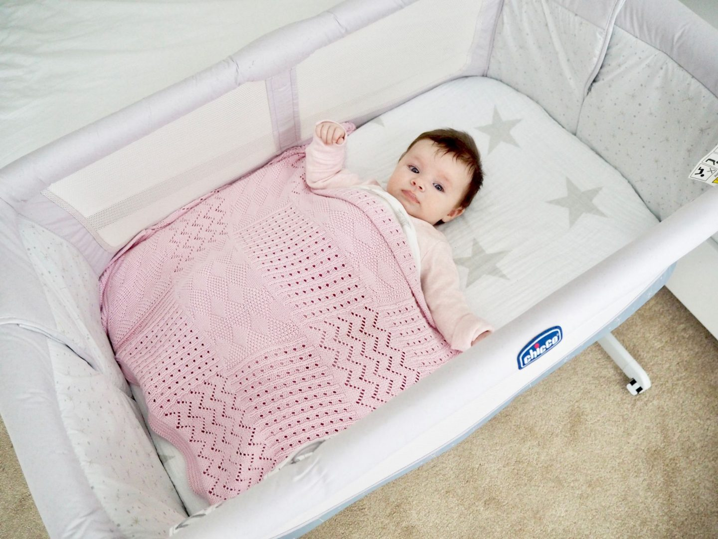 baby in a bed next cribs id to make crib cosleeper lumber hours sidecar with standard